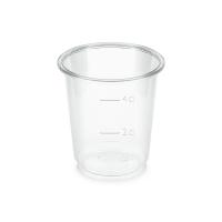 BIO plastový kelímek 0,02 l/0,04 l - PLA, průměr 48 mm, transparentní, 40 ks