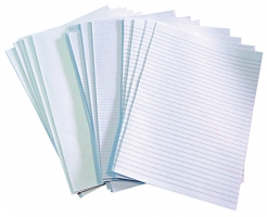 Skládaný papír A3 na 2xA4 - dvojlist, linkovaný, 250 listů