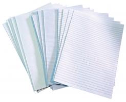 Skládaný papír A3 na 2xA4 - dvojlist, čtverečkovaný, 250 listů