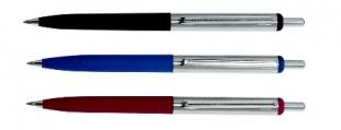 Kuličkové pero Concorde Simply - 0,7 mm, kovové, pogumované, mix barev