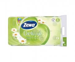 Toaletní papír Zewa Deluxe Camomile Comfort - třívrstvý, 100% celulóza, parfém heřmánek, 150 útržků, 8 rolí