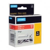Dymo originální páska do tiskárny štítků, Dymo, 1805416, bílý tisk/červený podklad, 5.5m, 12mm, RHINO vinylová profi D1