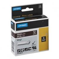 Dymo originální páska do tiskárny štítků, Dymo, 1805418, bílý tisk/hnědý podklad, 5,5m, 19mm, RHINO vinylová profi D1