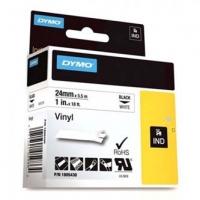 Dymo originální páska do tiskárny štítků, Dymo, 1805430, černý tisk/bílý podklad, 5,5m, 24mm, RHINO vinylová profi D1