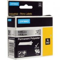 Dymo originální páska do tiskárny štítků, Dymo, 1805441, černý tisk/metalický podklad, 5.5m, 6mm, RHINO permanentní polyesterová D