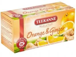 Ovocný čaj Teekanne - orange & ginger, 20 sáčků