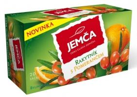 Bylinný čaj Jemča - rakytník s pomerančem, 20 sáčků