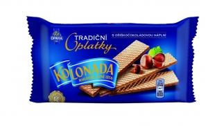 Tradiční oplatky Kolonáda Opavia - oříškočokoládové, 140 g