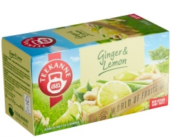 Ovocný čaj Teekanne - ginger lemon, 20 sáčků