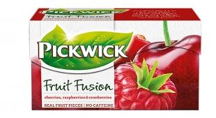 Ovocný čaj Pickwick Fruit Fusion - třešně s malinami a brusinkami, 20 sáčků
