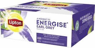 Černý čaj Lipton - earl grey, 100 sáčků