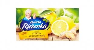 Ovocný čaj Babička Růženka - citron se zázvorem, 20 sáčků