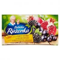 Ovocný čaj Babička Růženka - černý rybíz s ostružinami, 20 sáčků