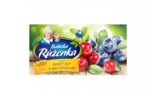 Ovocný čaj Babička Růženka - borůvky s brusinkami, 20 sáčků