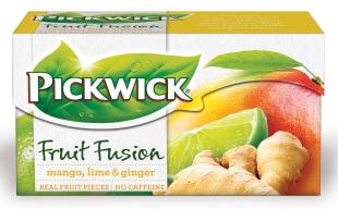 Ovocný čaj Pickwick Fruit Fusion - mango se zázvorem a limetkou, 20 sáčků