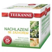 Bylinný čaj Teekanne - nachlazení se zázvorem, 10 sáčků