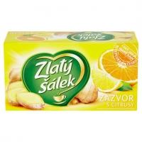 Ovocný čaj Zlatý šálek - zázvor s citronem, 20 sáčků