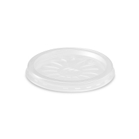 Kulaté plastové víčko pro termo misku na polévku 350-500 ml - PP, transparentní, 25 ks