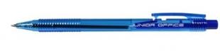 Jednorázové kuličkové pero Junior Office - 0,7 mm, plastové, modré