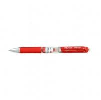 Gelový roller Deli S01 - gumový úchop, 0,5 mm, plastové, červené
