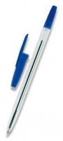 Jednorázové kuličkové pero - 1 mm, plastové, modré