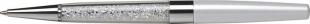 Luxusní kuličkové pero Art Crystella Swarovski – 0,7 mm, bílý krystal v dolní části, krémově bílé