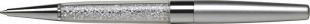 Luxusní kuličkové pero Art Crystella Swarovski – 0,7 mm, bílý krystal v dolní části, stříbrné