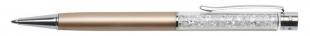 Luxusní kuličkové pero Art Crystella Swarovski – 0,7 mm, bílý krystal, zlaté