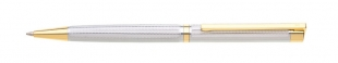 Kuličkové pero Tramonto - 0,8 mm, kovové, stříbrné