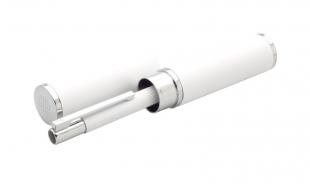 Kuličkové pero Tubla - 0,7 mm, kovové, bílé + pouzdro
