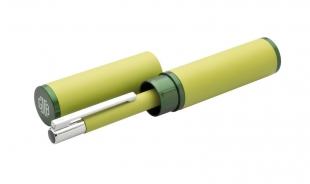 Kuličkové pero Tubla - 0,7 mm, kovové, světle zelené + pouzdro
