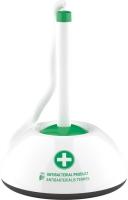 Kuličkové pero ve stojánku ICO - antibakteriální, 0,7 mm, plastové, bílo-zelené
