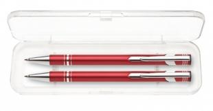 Psací souprava Limet - kuličkové pero + mikrotužka, červená