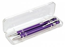 Psací souprava Limet - kuličkové pero + mikrotužka, fialová
