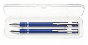 Psací souprava Limet - kuličkové pero + mikrotužka, modrá