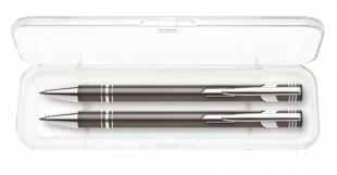 Psací souprava Limet - kuličkové pero + mikrotužka, šedá