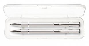 Psací souprava Limet - kuličkové pero + mikrotužka, stříbrná