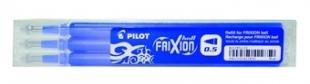 Náplň do přepisovatelného rolleru Pilot FriXion 2065 - 0,5 mm, plastová, modrá, 3 ks