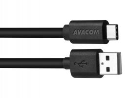 Kabel USB A-C Avacom  - 2.0, 1 m, černý