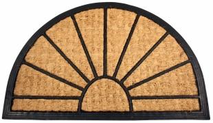 Gumová rohož - půlkruh, 40x60 cm, kokosové vlákno