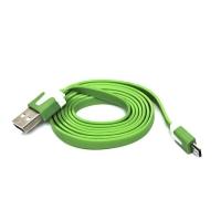 Kabel USB A M-micro M Logo - 2.0, 1 m, zelený