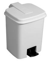 Pedálový odpadkový koš 18 l - plastový, bílý