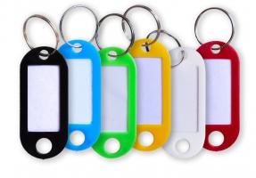 Jmenovka na klíče - 55x22 mm, mix barev, 1 ks
