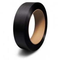 Vázací páska PP 10x0,35 mm - průměr dutinky 60 mm, 900 m, černá