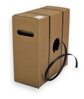 Vázací páska PP 12x0,5 mm - odvíjení z krabice, bez dutinky, 1000 m, černá