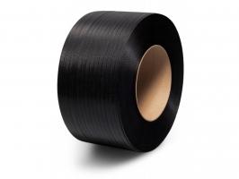 Vázací páska PP 12x0,55 mm - průměr dutinky 200 mm, 3000 m, černá