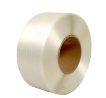 Vázací páska PES 9 mm - průměr dutinky 60 mm, 500 m, bílá