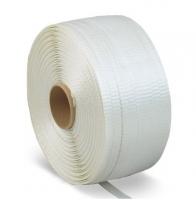 Vázací páska PES 25 mm - příčně pletená, průměr dutinky 76 mm, 400 m, bílá