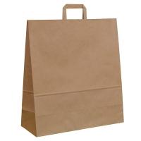 Papírová taška s plochým uchem - 45x17x48 cm, standartní dno, hnědá