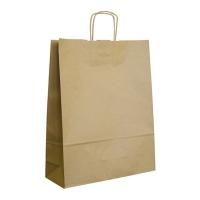 Papírová taška s krouceným uchem - 32x12x41 cm, standartní dno, hnědá